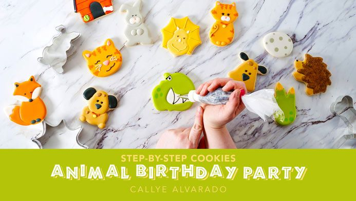 Step by Step Cookies Animal Birthday Party